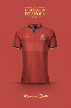 National Football kits reimagined with Local Brand sponsorship by Emilio Sansolini - Spain x Massimo Dutti Soccer Kits, Football Kits, Football Jerseys, Football Fever, Hugo Boss, Spain Football, Soccer Uniforms, Men Styles