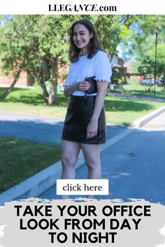 """Click here to learn about """"Take your office look from day to night"""" on Llegance! You'll also find pins about office look women casual and office look women business. Additionally, office look women chic and office look women summer. As well as, office look women 2020 and office look women winter. Also, office look women classy outfits and day to night outfit summer casual. Stylish day to night outfit summer work wear and day to night outfit summer classy.   #office #workwear #fashion Day To Night Outfit Summer, Summer Work Wear, Day To Night Outfits, Fall Outfits For Work, Casual Summer Outfits, Classy Outfits, Spring Outfits, Office Look Women, Office Outfits Women"""