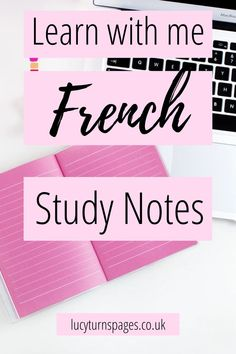 Learn French: free study journals. Learn French for free. French for beginners.