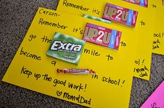 """To do well in school"" encouragement..Cute!  Great thing for teachers to give students as well!"