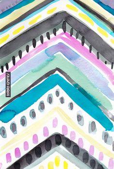 Daily Color #10: Chevron – BARBARIAN by Barbra Ignatiev | Bold colorful art