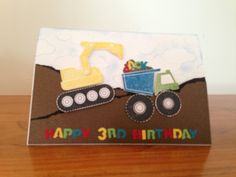 Little boys card using Stampin' Up's 'I Dig You' set.