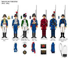 American War of 1812 Uniforms; American Revolutionary War, American War, American History, Independence War, British Uniforms, War Of 1812, Mystery Of History, United States Army, Napoleonic Wars
