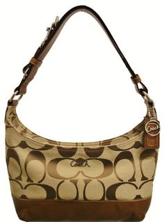 Coach Signature 24CM Pieced E/W Hobo Bag 17491 « Holiday Adds