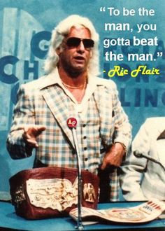 """To be the man, you gotta beat the man."" - Ric Flair  Flair sporting the U.S. Championship belt on a GCW show..."