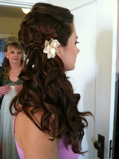 Bridesmaids updo by Cindy Phun (side profile) bridesmaid hair was completely one length