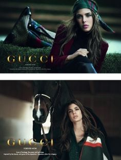 Charlotte Casiraghi voor Gucci.