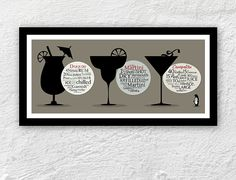 A little bit tipsy  cocktail poster by 1stClassPosters on Etsy