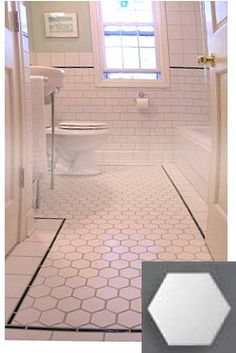 hexagonal tiles | Hex Tiles: Vintage Look | Old House Web