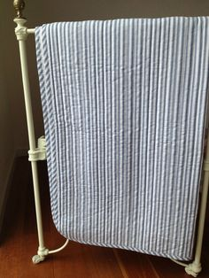 Cameron Quilted Cot Coverlet in Blue