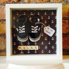 My First Shoes & Newborn Baby Memory Frames by TheMindsEyeClee, £22.00