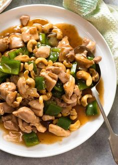 Chinese Cashew Chicken with sauce on a white plate, ready to be served Asian Recipes, Healthy Recipes, Ethnic Recipes, Easy Recipes, Chicken Cashew Stir Fry, Chicken Curry, Chicken Chili, Seared Salmon Recipes, Recipetin Eats