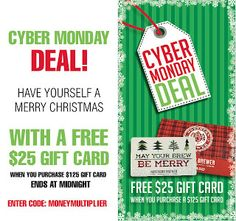 Homebrew Finds: Northern Brewer: $25 Gift Card with $125 Purchase for Cyber Monday