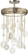No. LK300 SYRO CHANDELIER     Contact your nearest location for pricing  SHARE Pin It  DIMENSIONS Height: 36 1/4 inches Diameter: 20 1/2 inc...