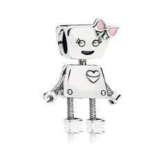 Bella Bot Charm, Pink Enamel | PANDORA Jewelry US