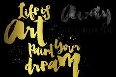 Away Font, Modern Brush Calligraphy by mycandythemes on Creative Market