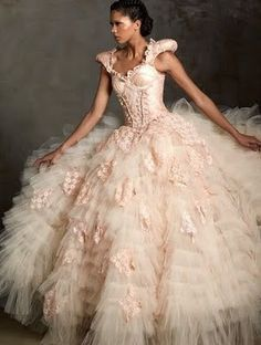 Sweet pink....just once, I hope to wear a dress like this. Must add to my bucket list.