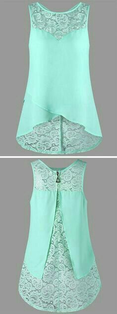 cobalt blue, cranberry would be really nice Lace Panel Sleeveless Blouse Trendy Dresses, Fashion Dresses, Summer Dresses, Summer Outfits, Summer Clothes, Fashion Clothes, Style Fashion, Summertime Outfits, Beach Fashion
