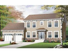 Eplans New American House Plan - Three Bedroom Contemporary - 1895 Square Feet and 4 Bedrooms from Eplans - House Plan Code HWEPL75533