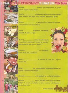 ¿Cómo nutrirse correctamente y llevar una vida sana? Lee los consejos de los expertos en nutrición y conjuga los verbos entre paréntesis en gerundio.