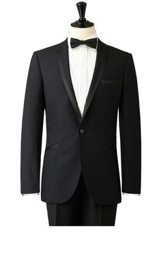 2014  New Custom Black wedding suits for mens 3 pieces suits (jacket+Pants+tie)CM7257 $259.00