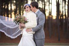 Love the big winter coat idea... Great Gatsby winter wedding inspiration   Live View Studios