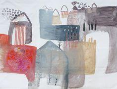 valeria kondor - oil on canvas - curtain on the door (2012)
