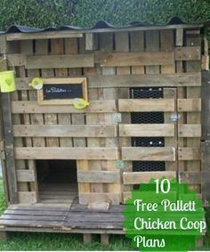 Chicken coop from pallets : Here is another example of chicken coop made out of pallets ! it's like french people are all having chickens at home Chicken coop from pallets in pallet garden with Pallets Hut Chicken Coop Chicken Coop Pallets, Easy Chicken Coop, Backyard Chicken Coops, Chicken Coop Plans, Building A Chicken Coop, Chickens Backyard, Chicken Runs, Chicken Coup, Chicken Life