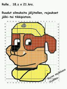 Bead Loom Patterns, Crochet Patterns, Cross Stitch Embroidery, Embroidery Patterns, Clip Art Pictures, C2c, Loom Beading, Rug Hooking, Paw Patrol
