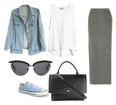 """Jeans ."" by nora-thesaudigirl on Polyvore featuring Converse, Givenchy, The Row and Theory"