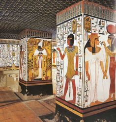 The burial chamber of the Tomb of Nefertari.
