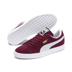 Men's PUMA Suede Classic+ Trainers in Cabernet Red size - Shoes Sneakers Sneakers Mode, Classic Sneakers, Best Sneakers, Casual Sneakers, Casual Shoes, Nike Sneakers, Puma Sneakers Suede, Girls Sneakers, Mens Puma Shoes