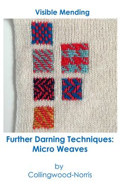 How to Darn a Sweater: En introduksjon til Darning Knitwear. - Collingwood-Norris, How to Darn a Sweater: En introduksjon til Darning Knitwear. Weaving Patterns, Crochet Blanket Patterns, Crochet Stitches, Bead Patterns, Bracelet Patterns, Embroidery Patterns, Techniques Couture, Sewing Techniques, Art Techniques