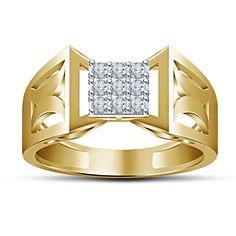 14Kt Yellow Gold FN 925 Silver Round Cut Sim Diamond Nine Stone Engagement Ring #9Stone