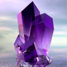 Amethyst is purple quartz, and has the feature of meditative and calming stone.It is used as a dream stone and to help to cure insomnia.keep an amethyst under your pillow to deliver about pleasant dre Minerals And Gemstones, Rocks And Minerals, Natural Gemstones, Alberto Giacometti, Beautiful Rocks, Mineral Stone, All Things Purple, Amethyst Crystal, Amethyst Quartz