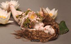 Porcelain bjd ball jointed doll Nayad by Yanina Kozlova, OOAK art bjd doll