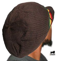 Rasta Roots Rock Reggae Cap Rastafari Crown Peak Hat Reggae Jamaica Irie L/XL