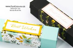 Stampin' Up! Demonstrator Pootles - Stunning Box using Whole Lot of Lovely. Long narrow box with a decorative paper sleeve. Click through for project details and video tutorial
