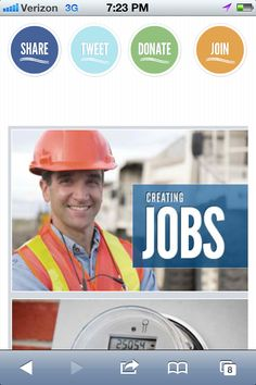 Jobs are best created on a 4G IPhone.    This is the website on a mobile browser with a responsive design.