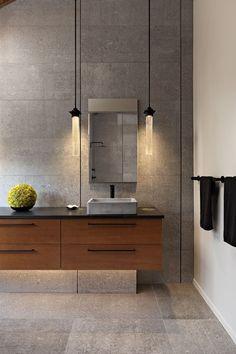 Zen Inspired bathroom by Paul Bentham of Lauren Levant Interiors with a NativeStone Nipomo concrete bathroom sink Dream Bathrooms, Amazing Bathrooms, Small Bathroom, Relaxing Bathroom, White Bathrooms, Luxury Bathrooms, Bathroom Plants, Master Bathrooms, Concrete Bathroom