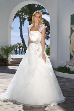 316074 ladybird trouwjurk romantische trouwjurk met kleuraccenten en losse boler