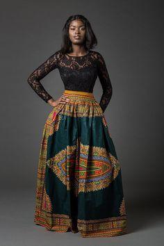 Dashiki skirt dashiki maxi skirt African skirt African