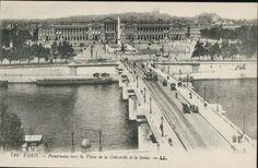 Paris 1900 - vers la Place de la Concorde et la Seine