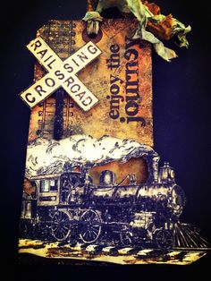 """Heather Smith as Ink & Flour: tag using lots of TH products, """"enjoy the journey"""", Feb. 2013"""