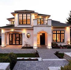 60 Most Popular Modern Dream House Exterior Design Ideas – Ideaboz – 60 Mos… - Traumhaus Dream Home Design, Modern House Design, My Dream Home, Villa Design, Facade Design, Dream House Exterior, House Exteriors, House Ideas Exterior, Bungalow Exterior