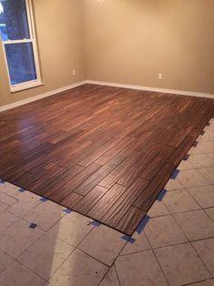 ceramic floor that looks like wood | The Little House Is ...