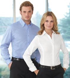 Promotional Products Ideas That Work:LEGACY LADIES' WRINKLE FREE 2-PLY COTTON JACQUARD TAPED SHIRT. Get yours at www.luscangroup.com