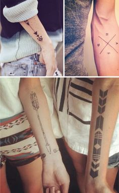 .not these specifically but arrows with something about direction of life and where my road will go..