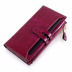 Hot-sale Women Elegant Long Wallet Ladies Vintage Casual Zipper Large Capacity Purse - NewChic Mobile.