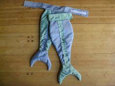 Easy Mermaid Tail Costume and a Dinosaur tail.